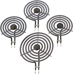 "Kitchen Basics 101: 4 Piece Set MP31YA Electric Range Burner Surface Element (3) MP15YA 6"", (1) MP21YA5 8"""