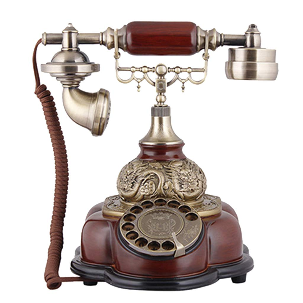 JGBHPNYX Antique Telephone Rotary Dial Landline Vintage Fashion for Home Decor Fashioned Telephone