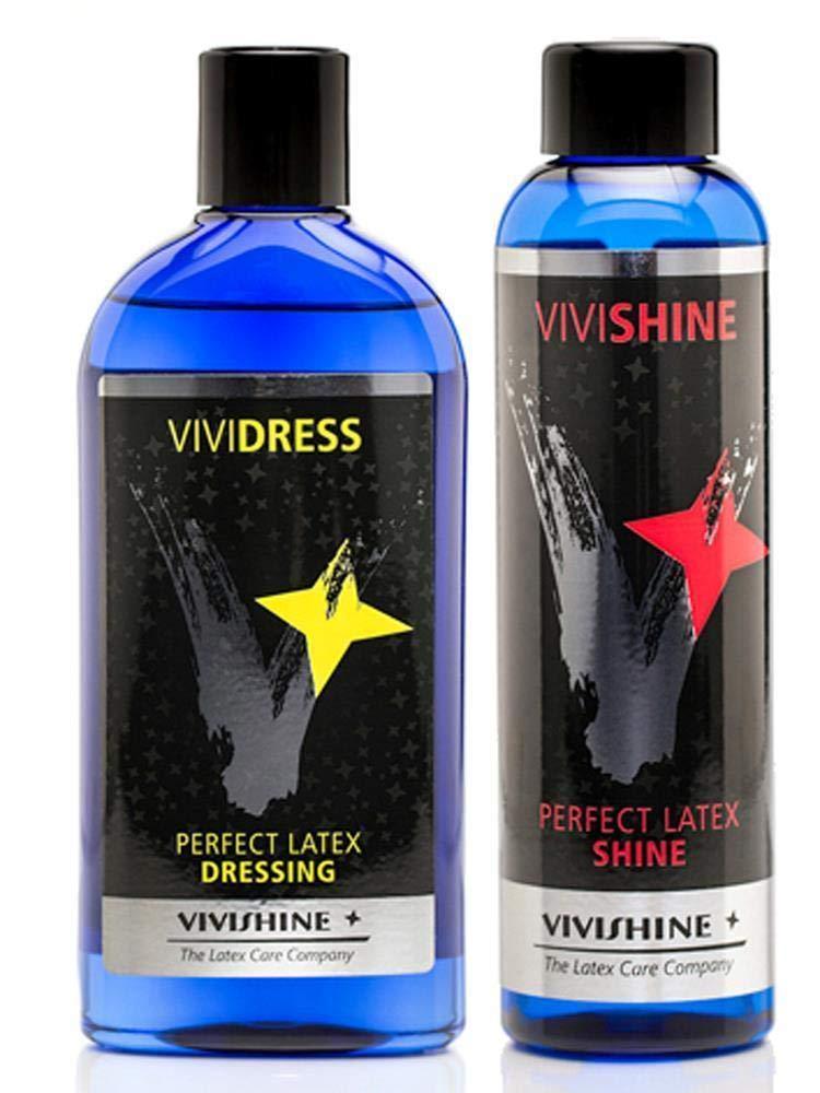Vivishine 150ml - Vividress 250ml Combo - for Latex Clothing