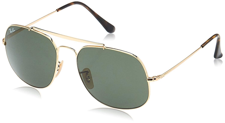 Ray-Ban 0RB3561, Gafas de Sol para Hombre, Marrón (Gold/Green Classic), 57