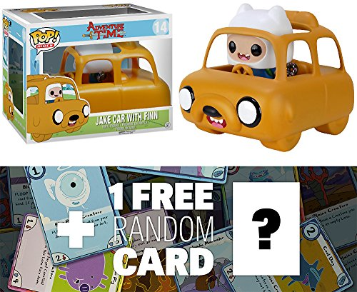 Adventure Time Jake Car w/ Finn: Funko POP! Rides x Vinyl Figure + 1 Free Official Trading Card Bundle [69797]