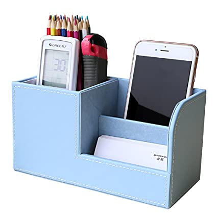 Office & School Supplies Desk Accessories & Organizer Multifunctional Office Desktop Decor Storage Box Leather Stationery Organizer Pen Pencils Remote Control Mobile Phone Holder