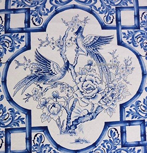Ralph Lauren Tamarind Bird Blue White Porcelain 3 pc. Full / Queen Duvet Cover Set - (Ralph Lauren Comforter Cover)