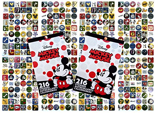 2-Pack Disney Classic Mickey Mouse 216 Stickers 4-Sheet Sticker Pads Classic Mickey Mouse Pad
