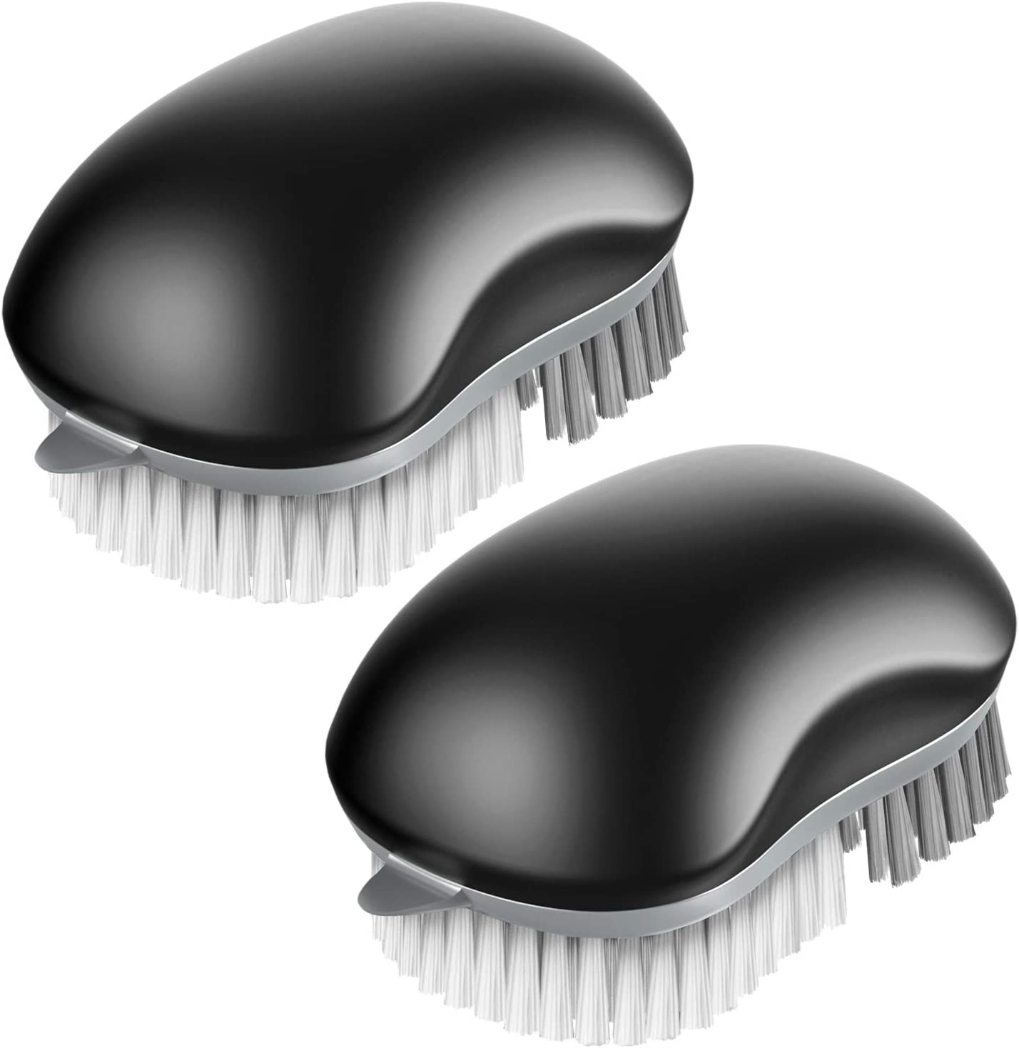 MR.SIGA Fruit and Vegetable Cleaning Brush with Non Slip Comfortable Grip, Pack of 2, Black