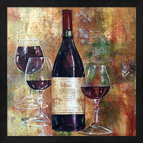- Napa Valley Pinot by Jamie Carter Fine Art Print with Wood Box Frame and Glass Cover, 15 x 15 inches
