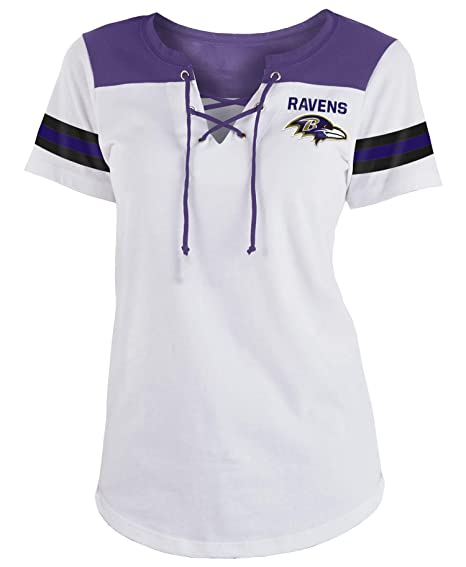 7472ebe5 Amazon.com : New Era Baltimore Ravens Women's Sleeve Striped Lace-Up ...