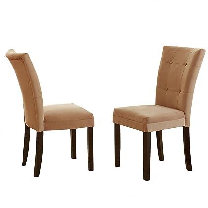 Addison Grace Home Decor Martin Parsons Chair, Camel, Set Of 2