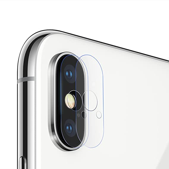 new product dfcb0 7a78f iPhone X Camera Lens Protector, Lontect [2-Pack] Anti-Scratch HD Clear  Tempered Glass Camera Lens Protector Film for Apple iPhone X / iPhone 10