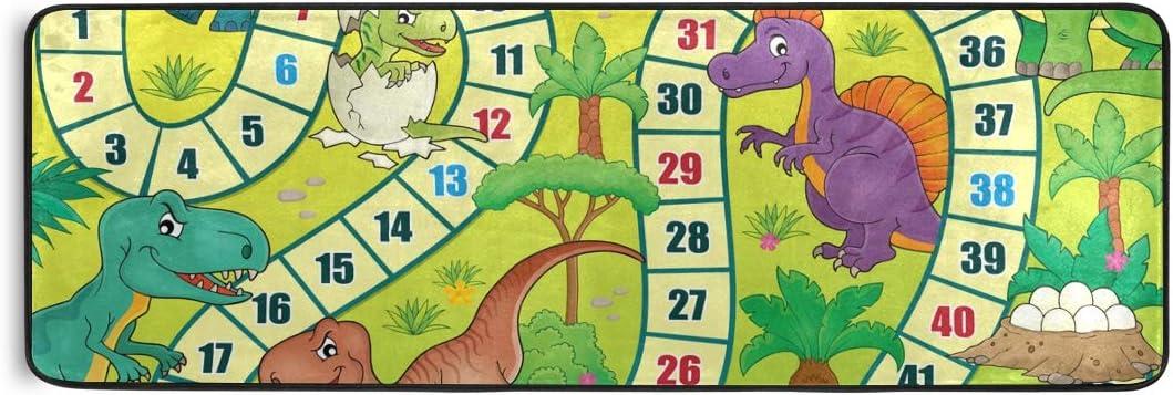 Área Antideslizante Alfombra Alfombra Viviente Animal Divertido Dibujos Animados Dinosaurio Juego de Mesa Felpudo Suave Antideslizante: Amazon.es: Hogar