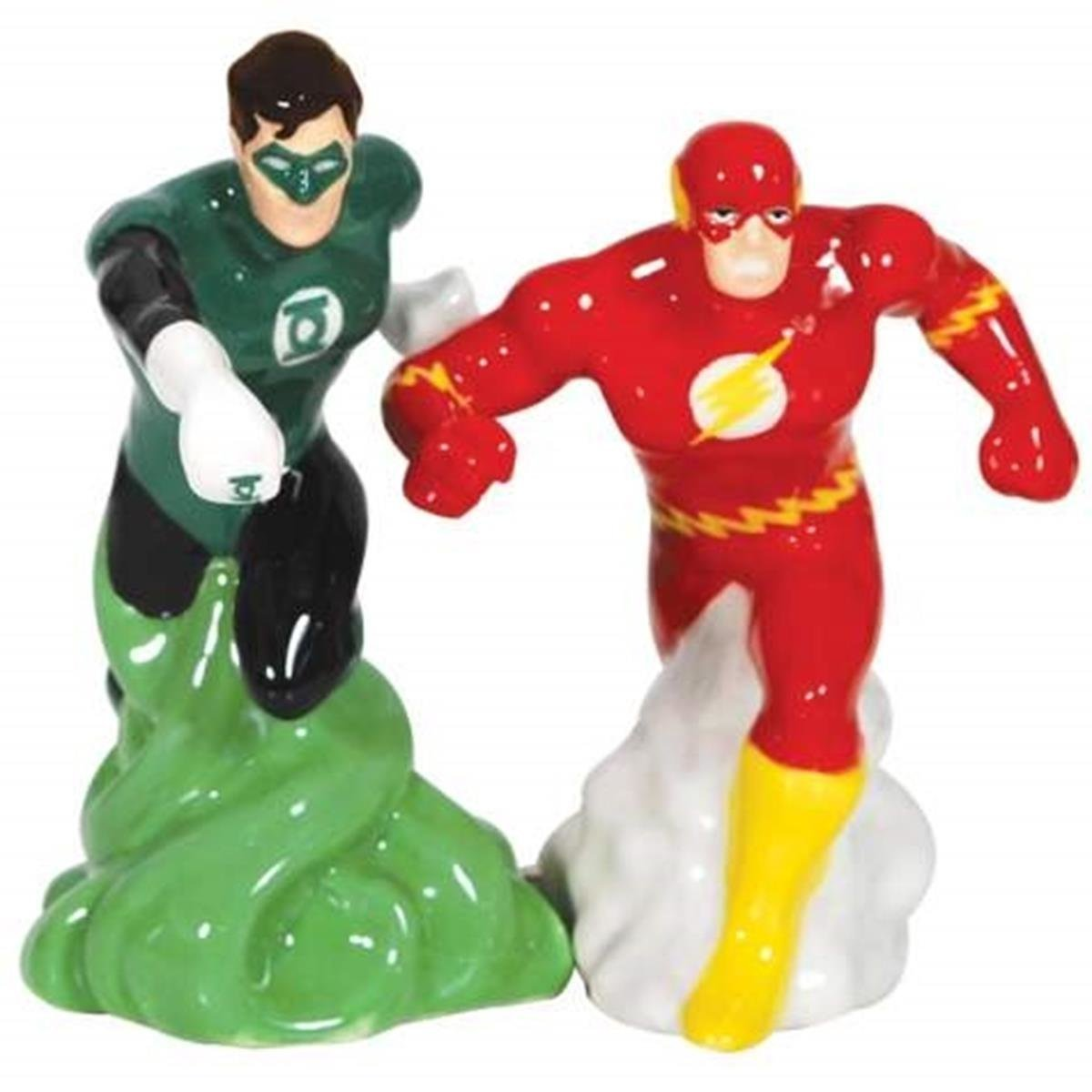 WL SS-WL-25542, 4 Inch Green Lantern and The Flash Action Salt and Pepper Shakers, 4'' by WL