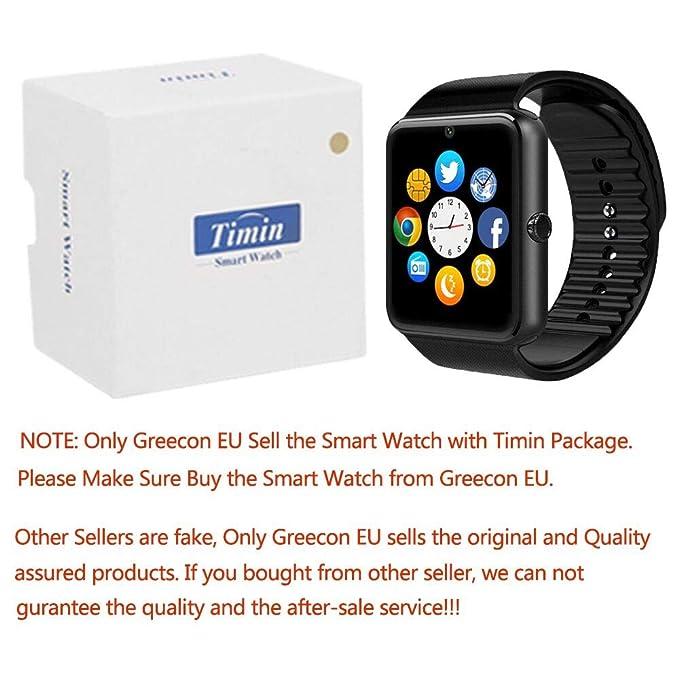 Smart Watch, culturesin GT08 Touch Screen Bluetooth del reloj con ...