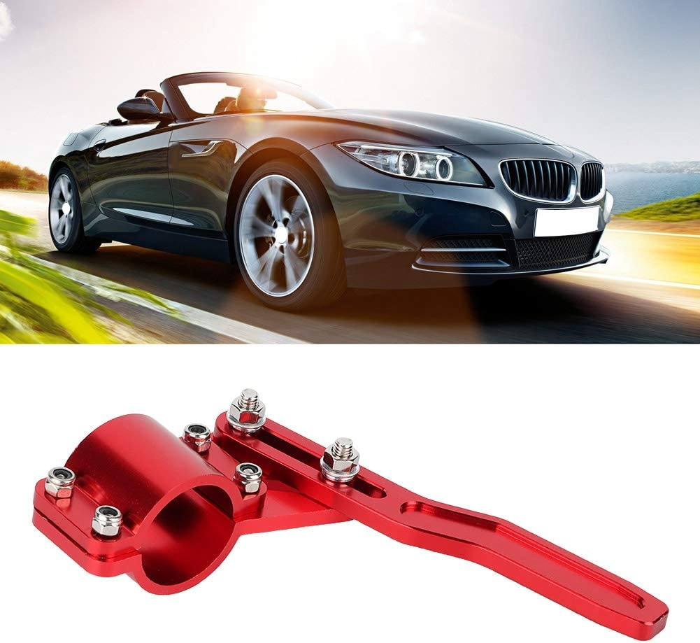 Turn Signal Lever Extender,Fydun Car Turn Signal Lever Extender Steering Wheel Turn Rod Position Up Kit Accessories Red