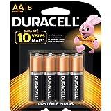Duralock Pilha Alcalina AAA com 8 Unidades, Duracell