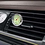 MELBEE Car Ornaments Luminous Thermometer Hygrometer Auto Interior Accessories Car Styling Automobile Air Vent Clip Decors Decoration (Thermometer)
