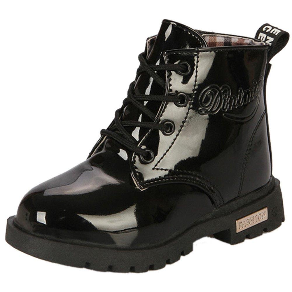Femizee Boys Girls Ankle Waterproof Boot,Kid Rain Boot Shoes(Toddler/Little Kid),Black,1930 CN26