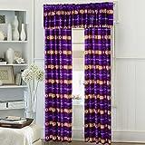 Southwest Design (Navajo Print) Purple 5 piece Curtain Set, Design #16112