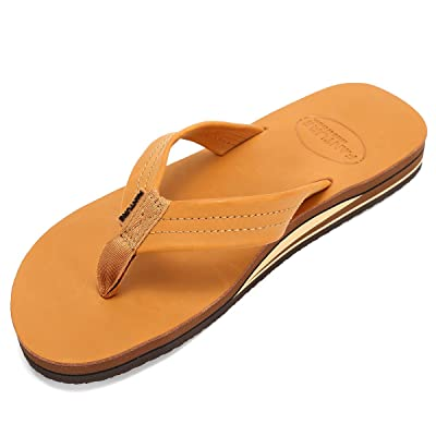 Fanture Leather Mens Flip Flops Arch Support Sandals Indoor and Outdoor Slipper | Sandals