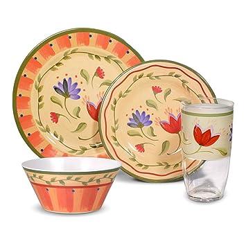 Pfaltzgraff Napoli Melamine Dinnerware Set 16 Piece  sc 1 st  Amazon.com & Amazon.com | Pfaltzgraff Napoli Melamine Dinnerware Set 16 Piece ...