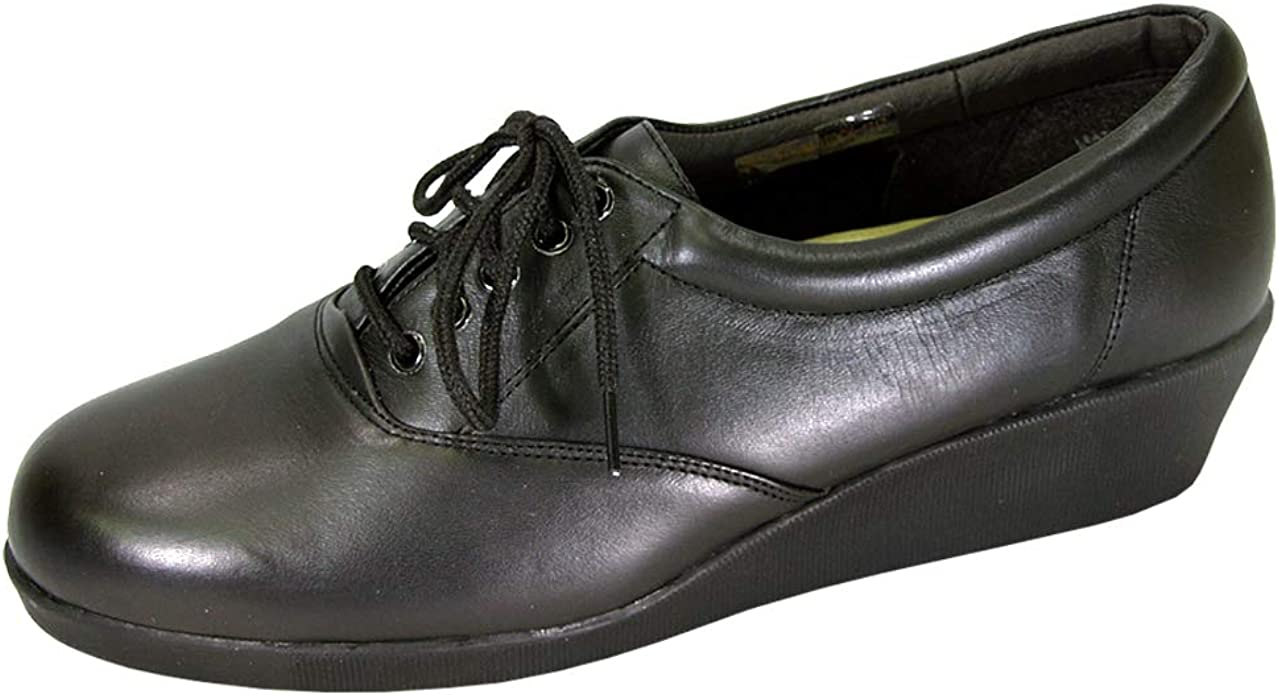Wide Width Cushioned Leather Shoes
