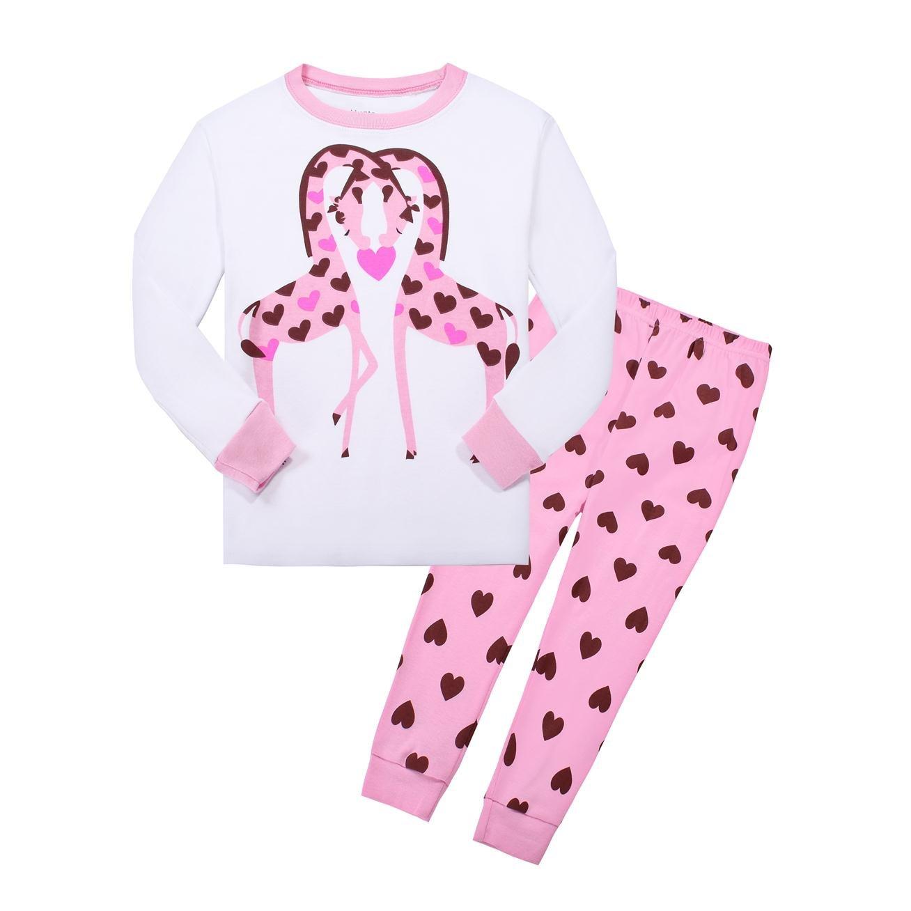 高級素材使用ブランド Cat Little GirlsパジャマSleepwears 2 Piece 100 %コットン服 2T 100 2T White-pink Little B075VWX6C9, ショウワチョウ:ac52d3e1 --- a0267596.xsph.ru