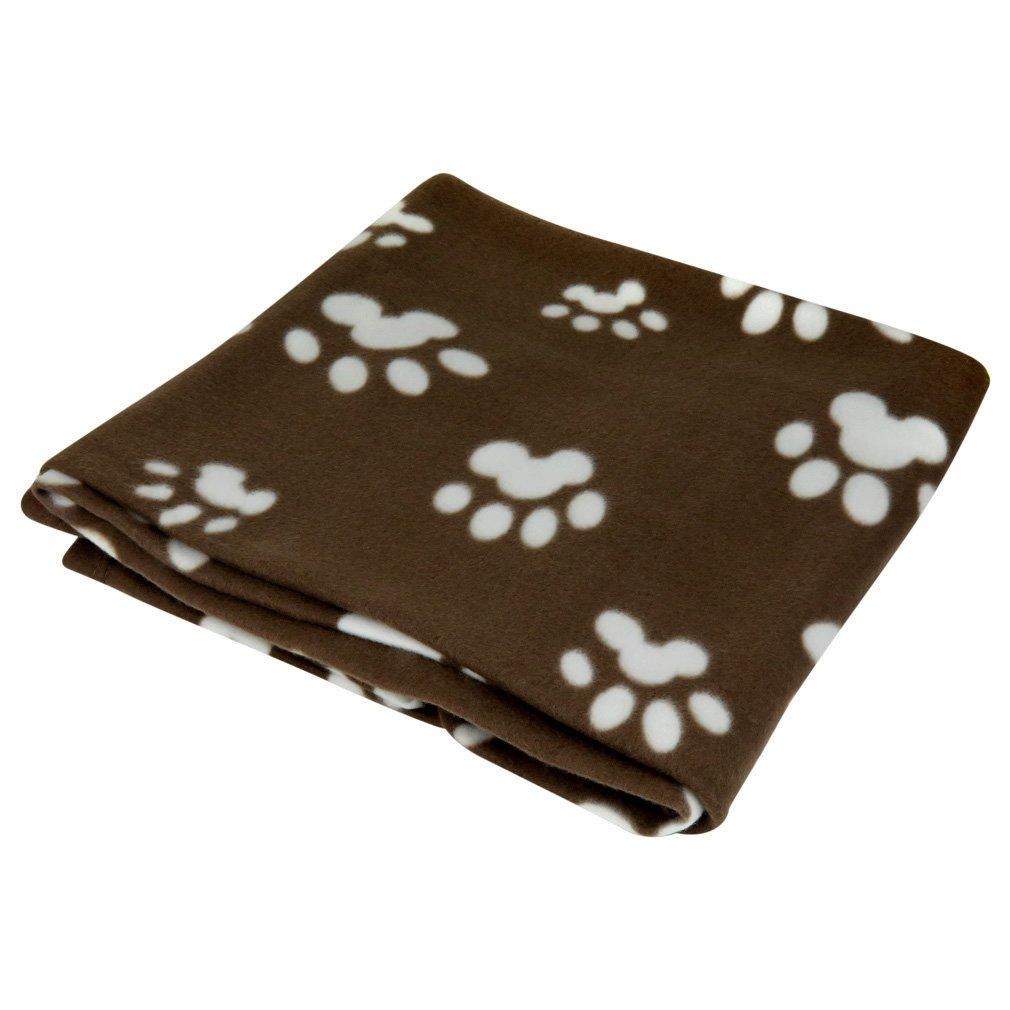 Evelots Paw Print Fleece Pet Blanket- Black, Coffee, Grey, Beige & Tan, 60x40 Evelots Fleece Pet Blanket Gray/White 60x40 Green Mountain Imports