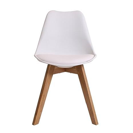 BUTIK FL20360 6 Angebot 6 Er Set Moderner Design Esszimmerstuhl Consilium  Valido, Eichenholz, 83 X 48 X 39 Cm, Weiß: Amazon.de: Küche U0026 Haushalt