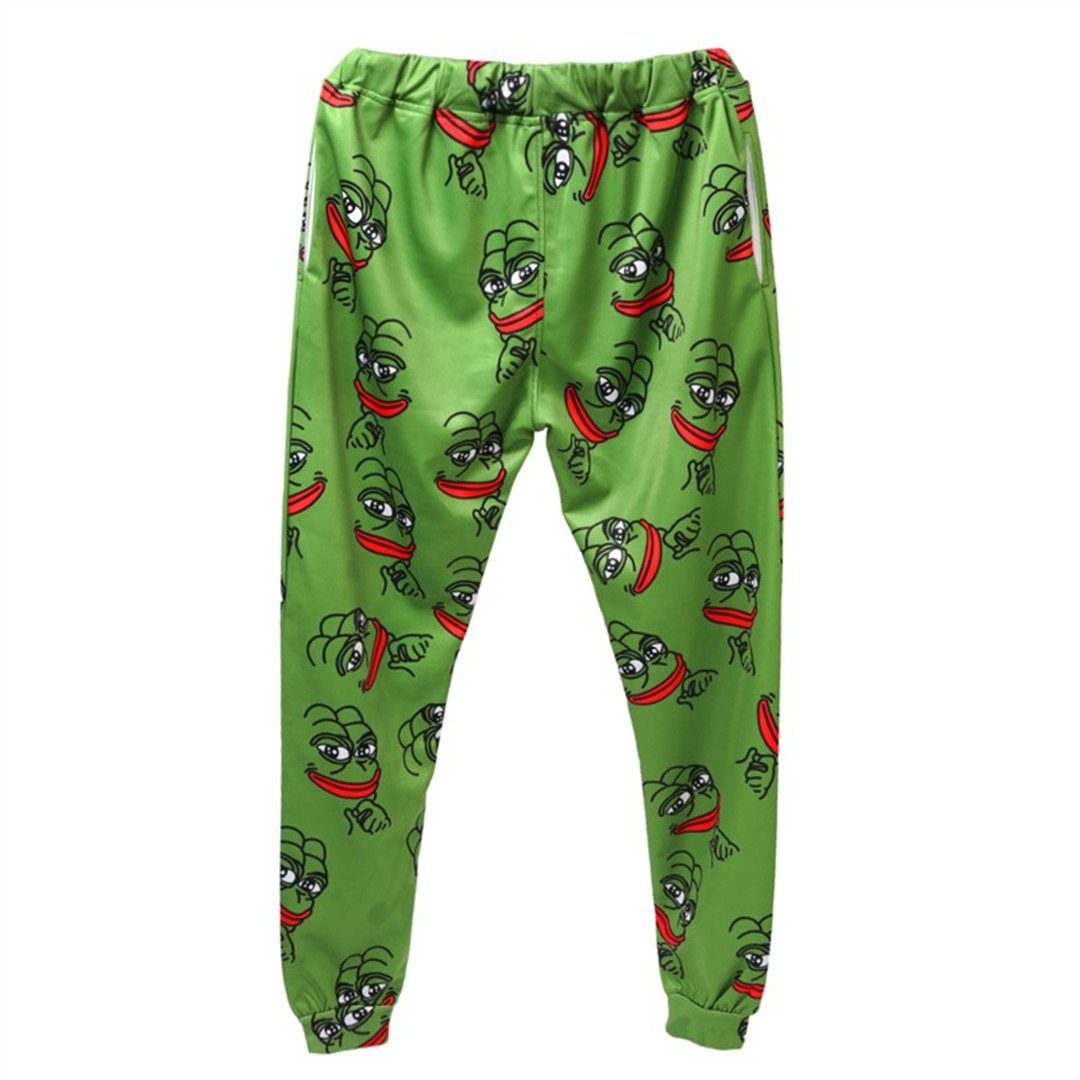 Pepe Frog Hoodies Suits Men's Sweatshirt Joggers Funny Animal Print Set PantsFall Winter Unisex 3D Tracksuit Pants