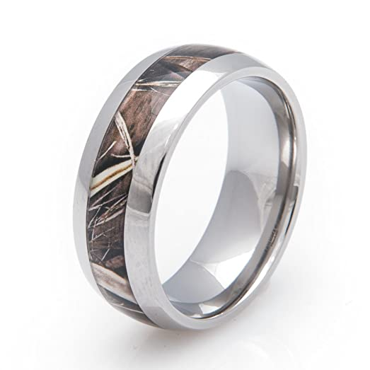 titanium realtree max4 camo ring dome profile 8mm comfort fit 4 - Realtree Wedding Rings