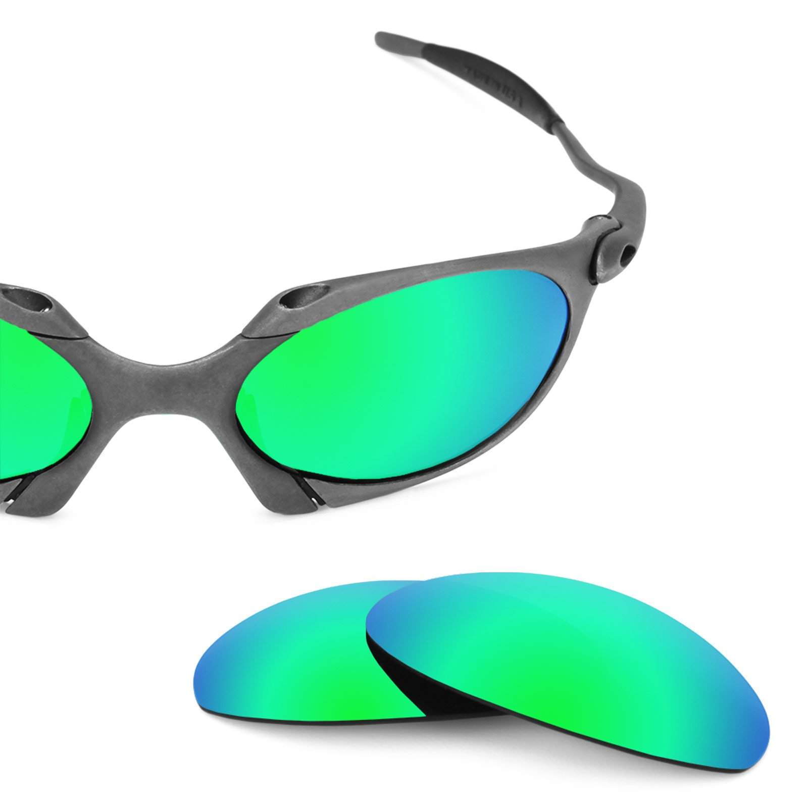Revant Replacement Lenses for Oakley Romeo 1, Polarized, Emerald Green MirrorShield by Revant