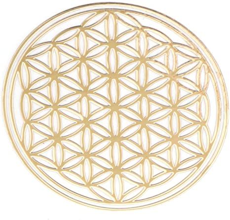 Flower of Life Pattern Geometry Copper Sticker DIY Notebook Phone for Health