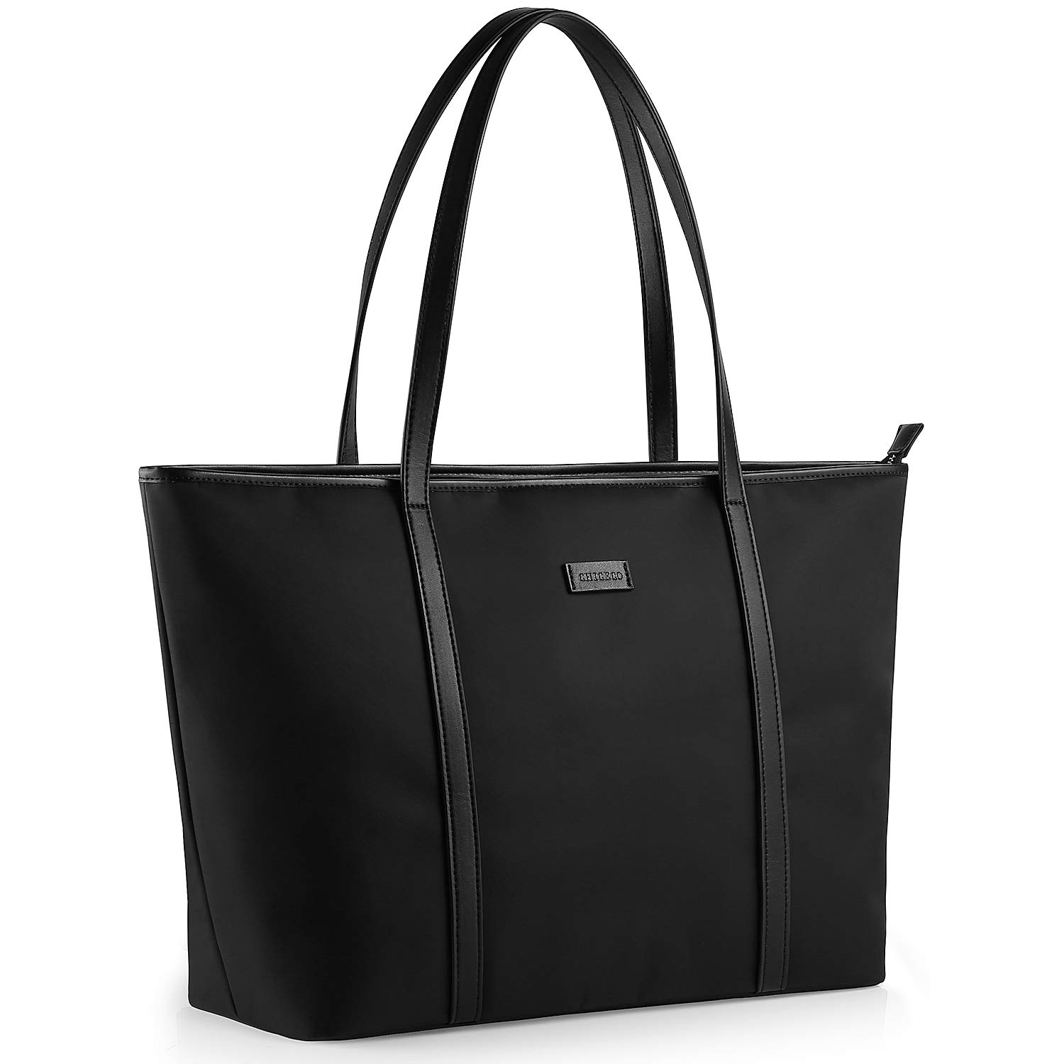 CHICECO Large Tote Bag for School Travel Work - Black, Lightweight Version by CHICECO
