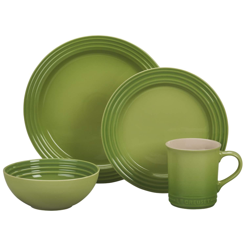 Le Creuset of America PGWSV16-034P Dinnerware Set, 16 Piece, Palm