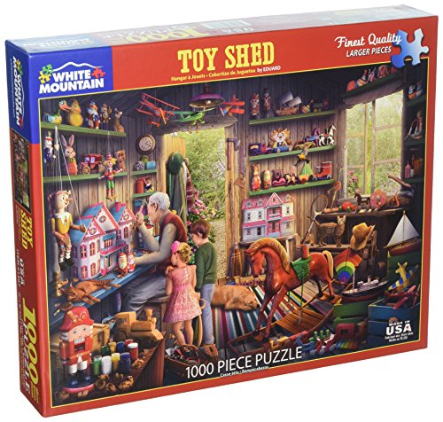 (White Mountain Puzzles Toy Shed - 1000 Piece Jigsaw Puzzle)