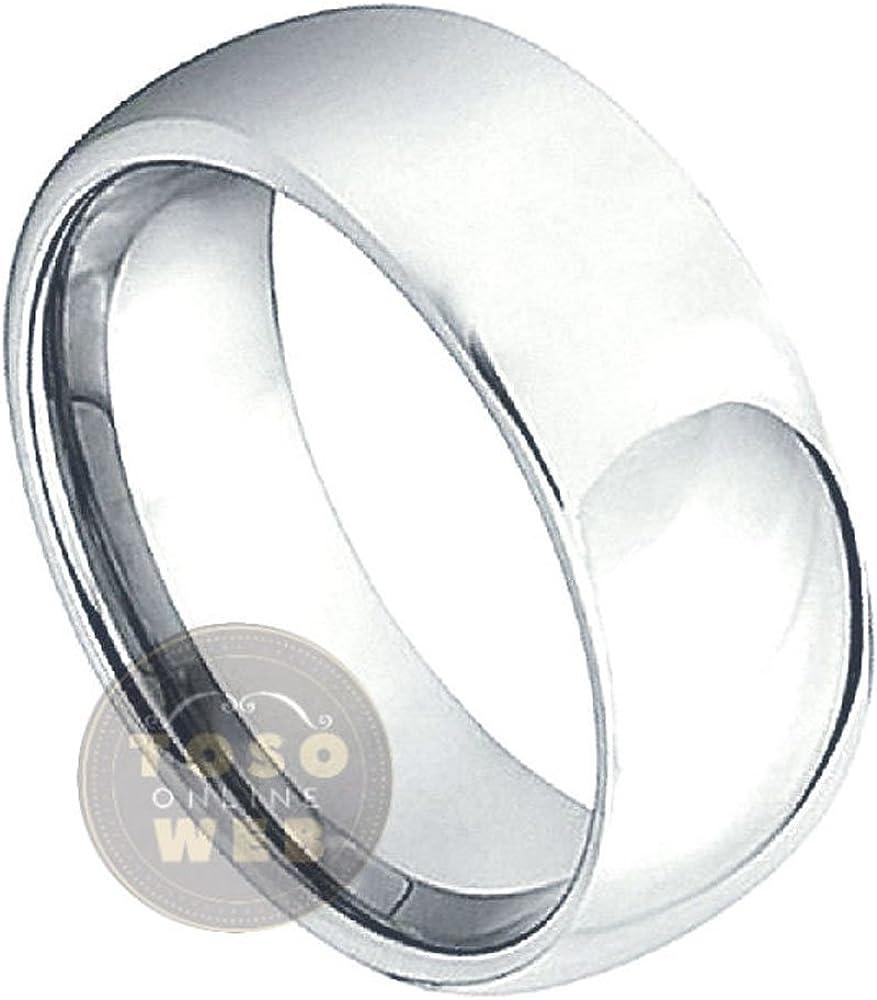 7mm Mens Titanium Wedding Band Polished Titanium Anniversary Ring TM265PL Groom/'s Ring Comfort Fit Dome Titanium Ring