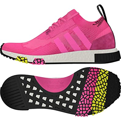 chaussures de séparation 4e897 bda47 Amazon.com | adidas NMD Racer Primeknit CQ2442 Pink | Track ...