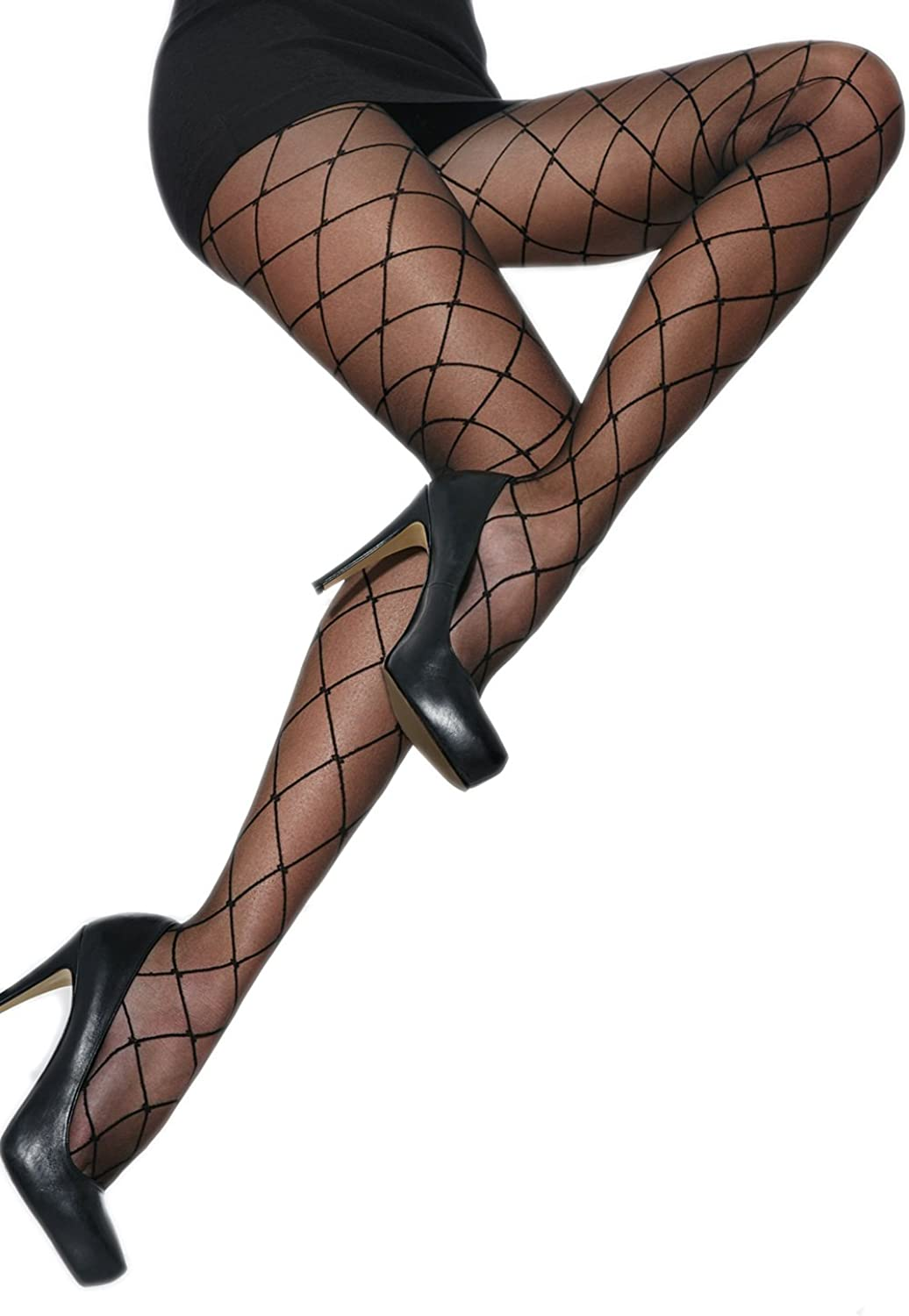 6 XXL XL Adrian Plus Size Patterned Tights Hera 20 DENIIER with Special Comfortable Gusset 5