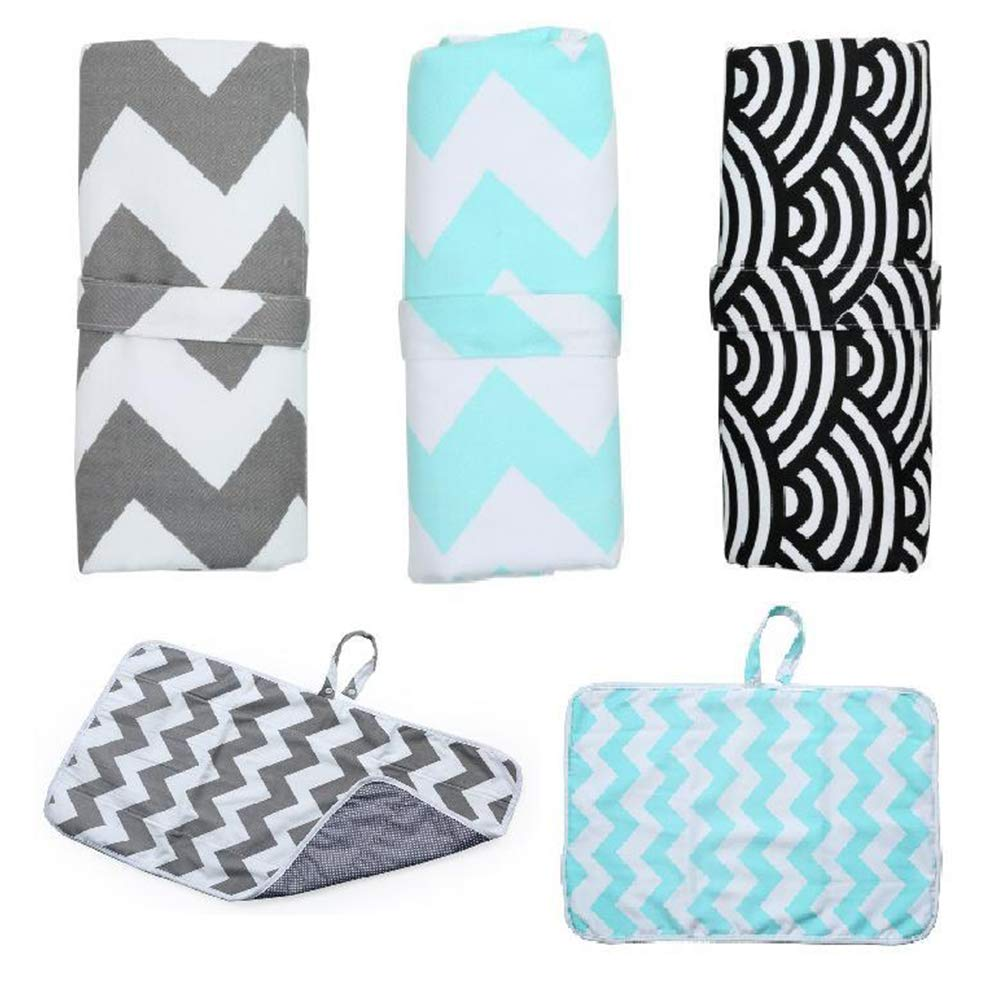 FairOnly Portable Infant Baby Foldable Urine Mat Waterproof Nappy Bag Cloud wave
