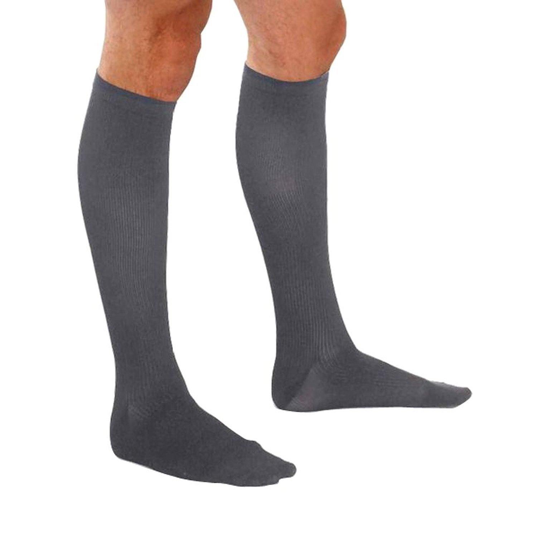 3528849fe Amazon.com  Therafirm Men s Trouser Socks - 15-20mmHg Mild Compression Dress  Socks (Black