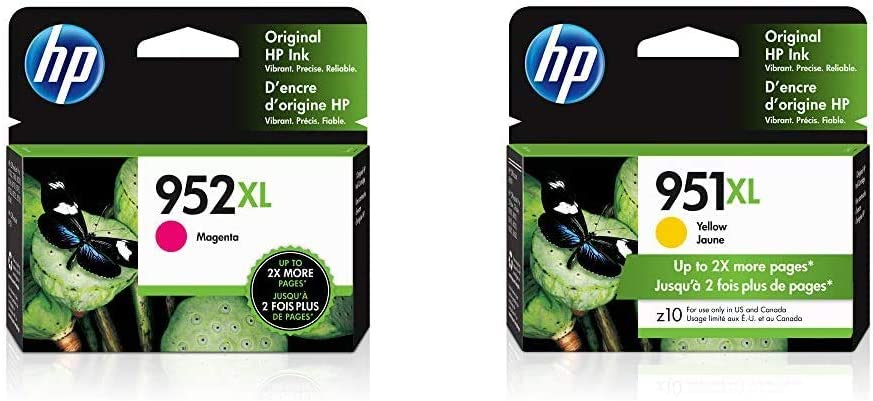 HP 952XL | Ink Cartridge | Magenta | L0S64AN & 951XL | Ink Cartridge | Yellow | CN048AN