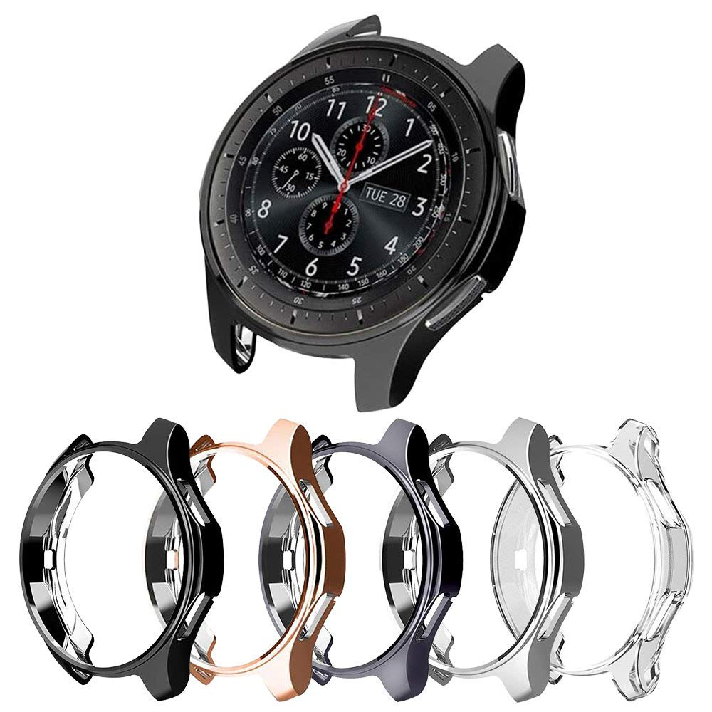 [5-Pack] Protector Case Compatible with Samsung Galaxy Watch 46mm and Gear S3 Frontier Classic,Soft TPU Plated Protective Cover Ultra Thin Bumper Shell Smartwatch Accessories (5 Colors, 46MM) by Richone