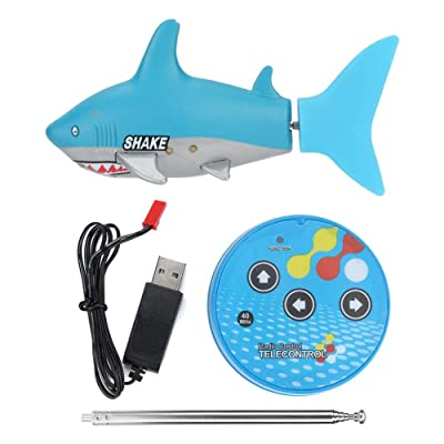 YOUTHINK Animal Toy with Remote Control, Canned Bottle Fish Toys Intelligent Electric Toys for Toddlers Girls Boys Birthday Gift(浅蓝色): Home & Kitchen