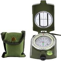 3.3x2.4x1.0in waterdicht militair groen survival kompas, aluminium draagbaar kompas, kamperen klimmen voor buiten…