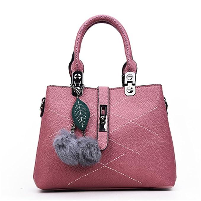 Moda bolsos de piel bolsos bolsos de mano bolsos de cuero Bolsos de lujo Bolso Rosa 29cmx21cmx13cm.: Amazon.es: Ropa y accesorios