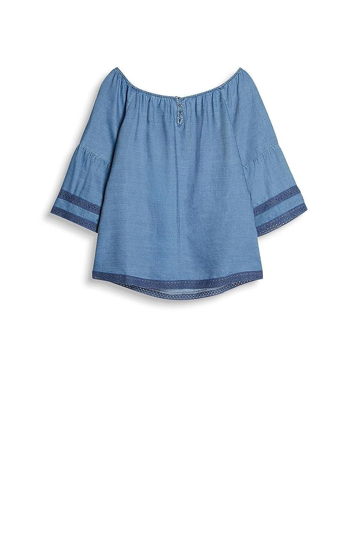 ESPRIT dam blus Blå (Gråblå 420)