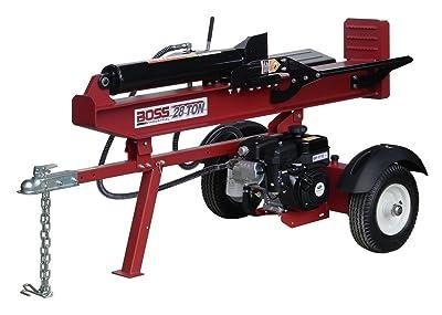 BOSS INDUSTRIAL GB28T25 Horizontal/Vertical Gas Log Splitter, 28 Ton