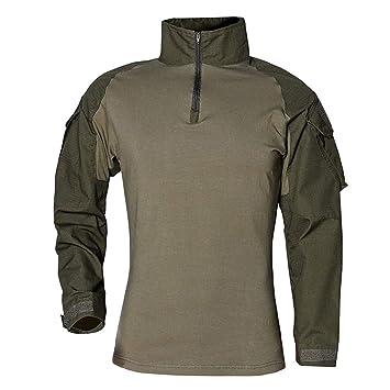 Logobeing Chaqueta de Hombre Tácticas Ejército de Manga Larga Musculoso Musculoso Básico Sólido Blusa Camiseta Sudaderas Hombre Deporte Tops: Amazon.es: ...
