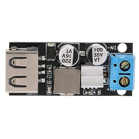modulo di alimentazione step down tensione CC-CC 12V 24 V 6 V-32 V a 5 V QC3.0 Ricarica rapida USB Modulo di tensione 6-32 V CC