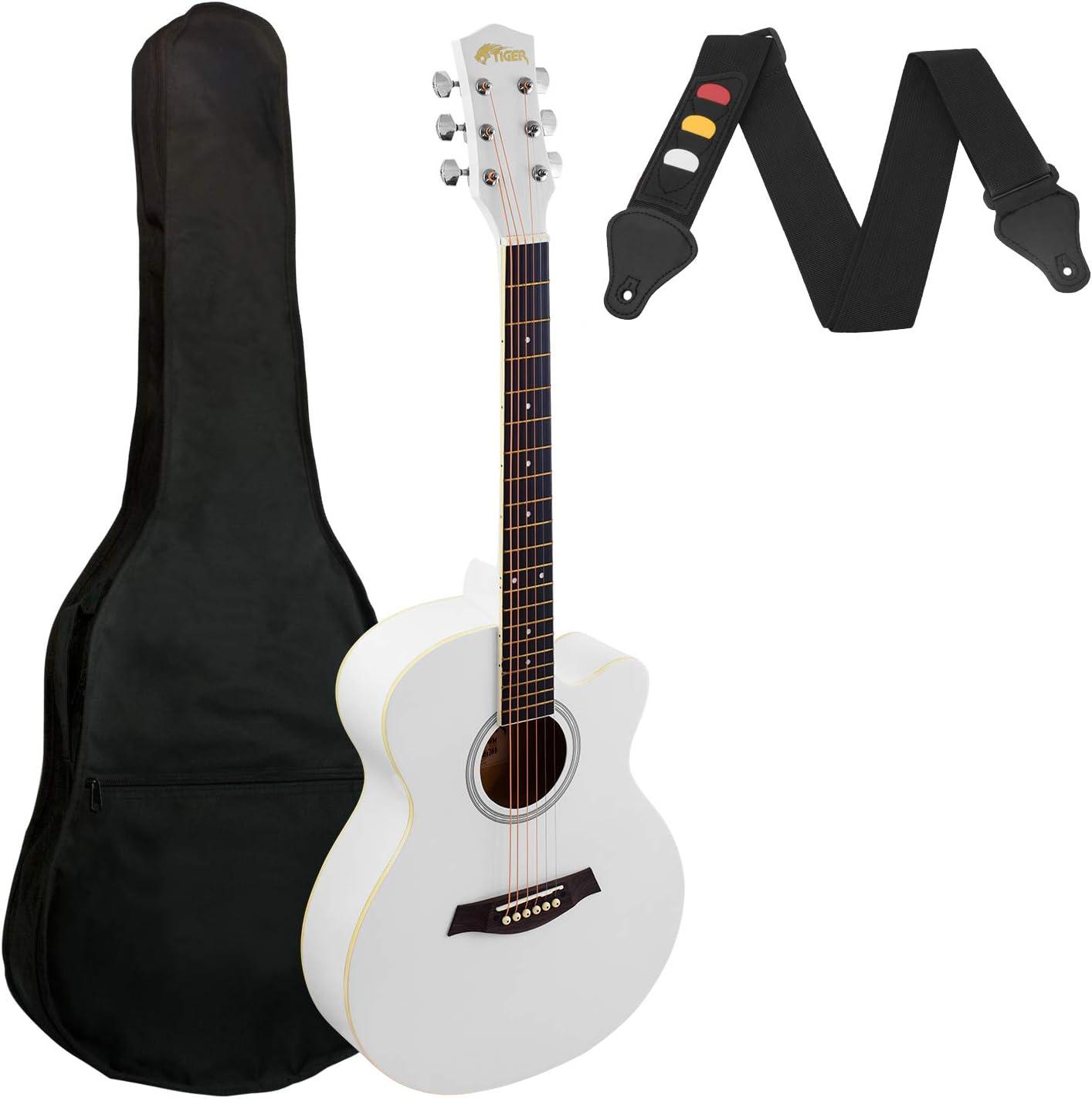 Guitarra acústica de cuerpo pequeño para principiantes, color ...