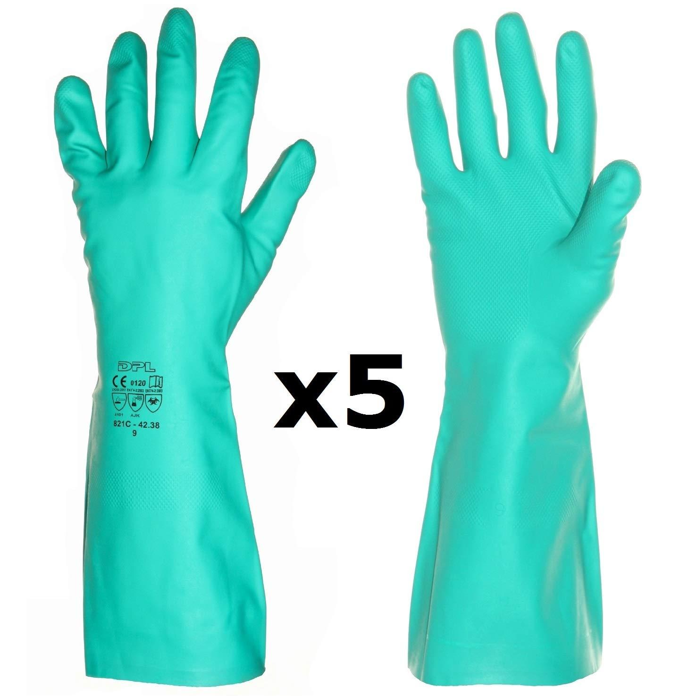 limpieza Antivirus 1 Par, 9L la mejor protecci/ón contra g/érmenes para cocina laboratorio Guantes largos profesionales de caucho de nitrilo Coronavirus ba/ño qu/ímicos para el hogar